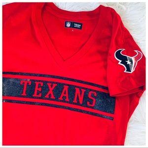 NFL Texans vneck like new runs small